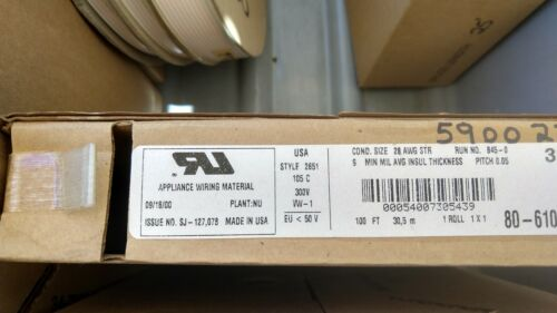 3M 3365/26 80-6100-6003-2 FLAT CABLE,28AWG STR 1 reel of 100 FEET S2B7