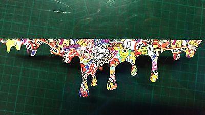 Stickerbomb Drip Funny Sticker Car bumper door van joke vag jdm peep Printed gti
