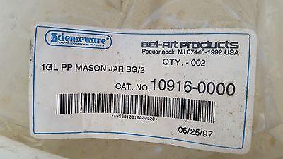 Bel-art 10916-000 Wide Mouth 4l Polypropylene Mason Jars Pack 2