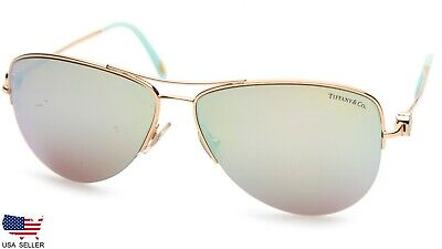 TIFFANY & Co TF3021 6002/64 GOLD MIRRORED LENSES SUNGLASSES (READ DISPLAY (Tiffany Mens Sunglasses)