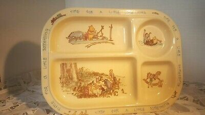 Winnie The Poo And Friends (CHILD BABY MELAMINE DIVIDED PLATE WITH WINNIE THE POO  AND)