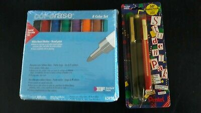 Dry Erase Marker Set White Board Broad Tip 8 Pieces New 3pc Pentel