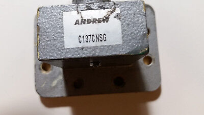 C137cnsg Waveguide Transition 5.8 To 8.2 Ghz. N Female To 137 Waveguide Flange