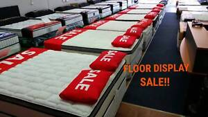 BOXING DAY SALE!! TOTAL CLEARENCE EX DISPLAYS MATTRESSES WA MADE