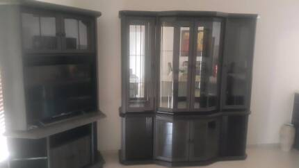 Dining Room Display Cabinet And TV