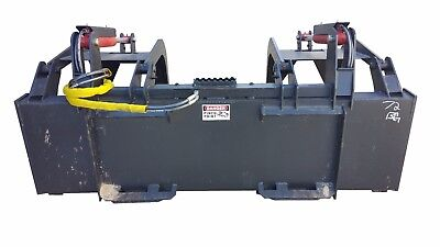 66 Inch Skid Steer Heavy Duty Solid Bottom Grapple Bucket Free Shipping