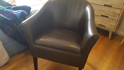 Leather club chair Camberwell Boroondara Area Preview