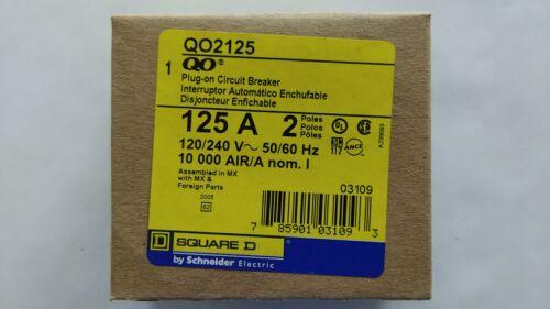 Square D QO2125 2-Pole 125-Amp 120/240V Plug-In Circuit Breaker
