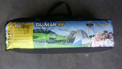 Tent - OZtrail Tasman 4V 4 person tent in as new condition.