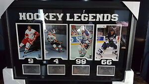 HOCKEY LEGENDS AUTHENTICITY STICKER ON REAR WALL PICTURE