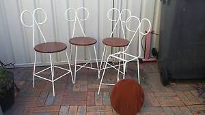Vintage 1950 petite iron chairs Carrington Newcastle Area Preview
