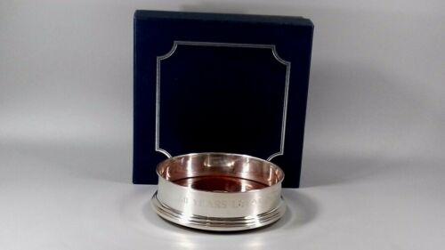 VINTAGE STERLING SILVER PRESENTATION WINE COASTER 1996 BOXED