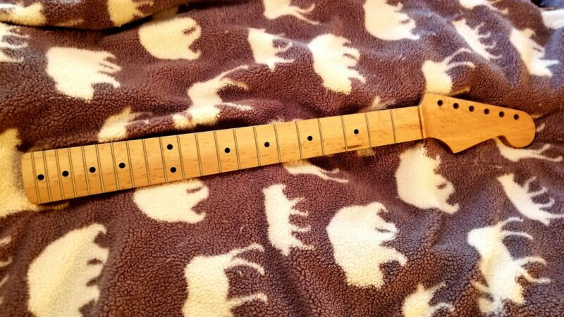 Musikraft Guitar Neck One Piece Strat Tele Birdseye USA 21 Fret C
