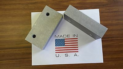 6 X 3 X 1.5 Vise Jaw Pair- Aluminum For Kurt And Most Others-usa