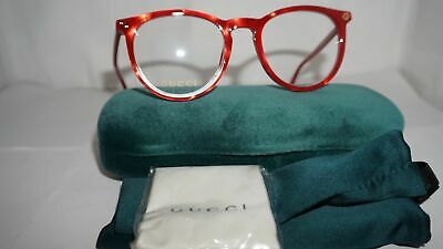GUCCI Frame RX Eyeglasses New Red Red Transparent GG0027O 004 50 20 (Red Gucci Eyeglasses)