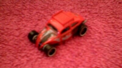 Hot Wheels - Unboxed - #69 Custom Volkswagen Beetle - Red, Grey, Brown & Black