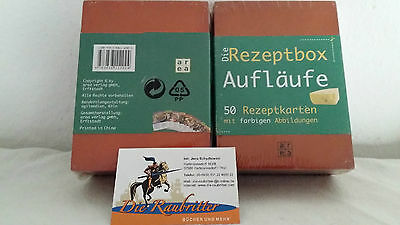 Rezeptbox Holz Aufläufe Kochen Karten OVP Neu  ()