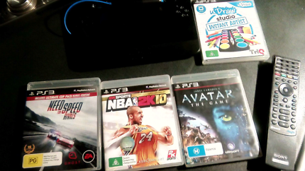 PS3: Games, DVD Remote & uDraw tablet