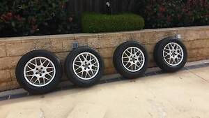 4x 15' Wheels & Tyres, stud pattern 5x100, offset ET38. Glenwood Blacktown Area Preview