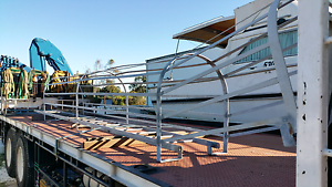 Galvanised Ladder with safety rail. Midland Swan Area Preview