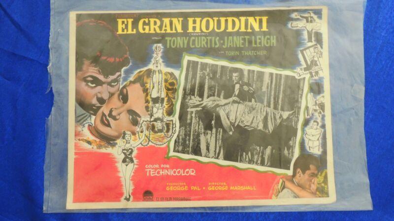 Houdini movie, lobby poster, 1953 Original (Mexican version)