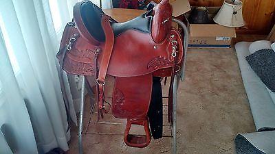 Tex Tan flex tree Western Equestrian Saddle