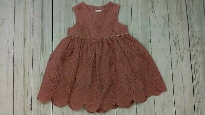 Mamas & Papas 12-18 Month Girl Dusty Rose Pink Lace Dress Party Holiday Wedding