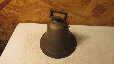 Antique Brass School Teachers Strap Bell