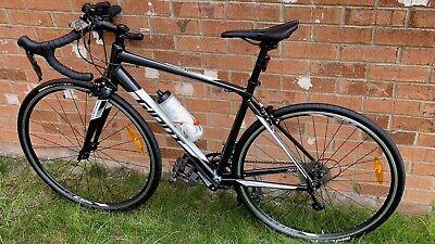 GIANT ROAD BIKE CONTEND 3 700 C LARGE - METALLIC BLACK BICYCLE - FITNESS