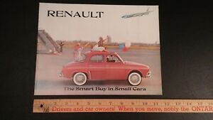 1960-RENAULT-Color-Dealer-Sales-Catalog-Good-Condition-CDN
