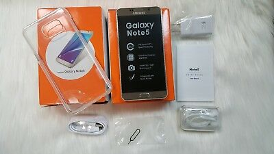 New Samsung Galaxy Note 5 SM-N920A - 64GB Gold Platinum AT&T Plant Unlocked