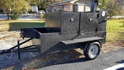 3 Burner Fryer Double Rib Master Pro Bbq Smoker Trailer Food Truck Concession