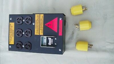 Subpanel 15amp Breaker 6x15amp Twist-lock Outlets Includes 3 Plugs
