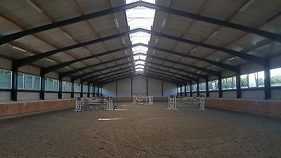 Stahlhalle 20x75x5,20 m Industriezelt Lagerzelt Stahlbau Hallenbau Stahlhallen