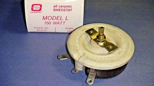 Ohmite RLS150 Rheostat Potentiometer Model L Wirewound 150W 150 Ohm 1.000 A NOS