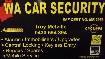 Car alarms/ car immobilisers mobile service