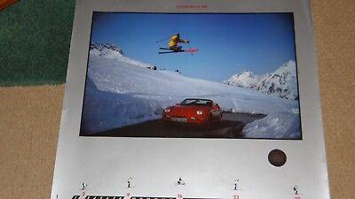 """Porsche; 1994 calendar, """"Enjoying Performance"""" - plus rare 911 Carrera coin"""