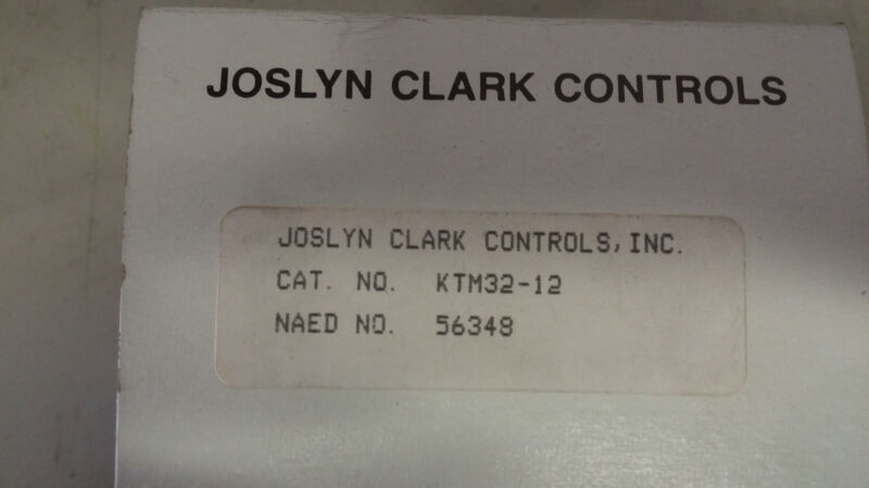 JOSLYN CLARK KTM32-12 NEW IN BOX 3 LINE OVERLOAD RELAY SIZE 2 SEE PICS #A54