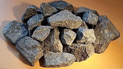 25 kg Deutsche Saunasteine Basalt 8 - 15 cm - Aufguss Sauna Steine