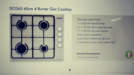 D'amani gas cook top model dcg6s