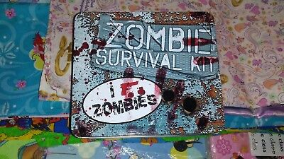 Zombie Survival Kit Metal Lunch Box - Zombie Brand New ship by  19th 4xmas
