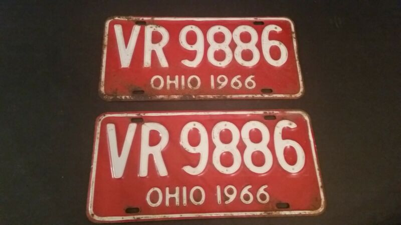 Antique 1 One Horse Vehicle Tag Springfield Ohio 1913 Chauffeur Badge License