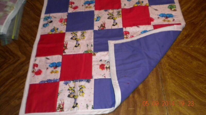 Handmade Farmall Tractor, Teddy Bear or Cheerleaders Quilt / Blanket - NWOT
