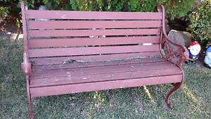 Cast iron bench needs timbers price firm lion heads North Richmond Hawkesbury Area Preview