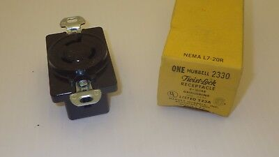Hubbell 2330 Twist Lock Receptacle 3 Wire Grounded 20a 277vnib Missing Screaws