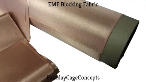 "EMF RFID RF Shielding Copper Fabric Roll - 43"" x 24"" (2 linear feet)  Conductive"
