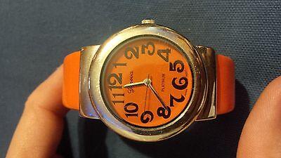 (Geneva Platinum orange no:8159 bangle quartz watch)