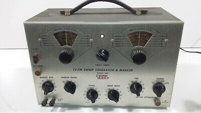 Great Condition Working Eico Rf Sweep Generator Model 368 Tube Includes Manual