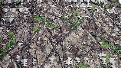 "Camo Mesh Leaf Fabric HTC Spring True Timber 59"" Deer Blind"