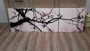 3pce Cherry Blossom Canvas Wall Art Seville Grove Armadale Area Preview